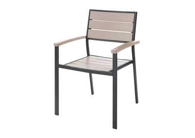 Image for Black/Beige Stackable Chair