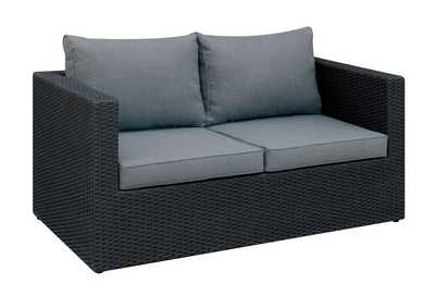 Image for Grey/Black Outdoor Loveseat