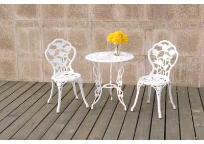 Image for White 3 Piece Bistro Set