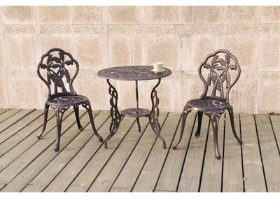 Image for Copper Rose 3 Piece Bistro Set