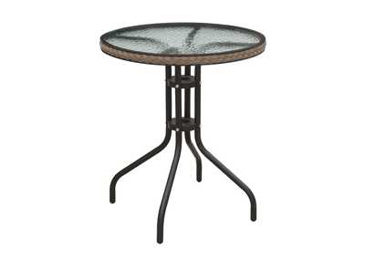 Black/Brown Outdoor Table