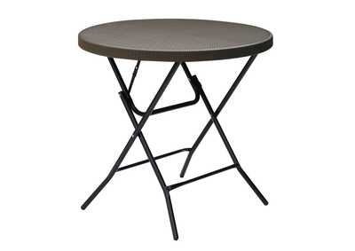 Image for Brown Foldtable Table Dia 32""