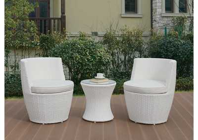 Image for White 3 Piece Conversation Set