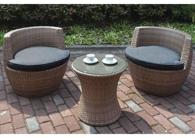 Image for Brown/Grey 3 Piece Outdoor Set