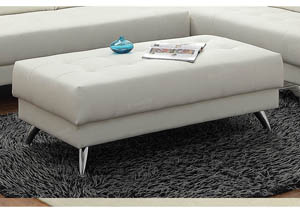 Image for White Cocktail Ottoman