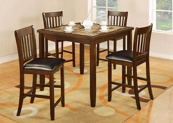 2095 5 PIECE FAUX MARBLE DINING SET,Primo International