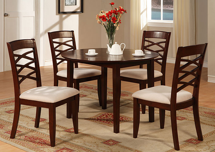 8809 Round Table W 2 Drop Down Leaf Bob, Bobs Dining Room Sets