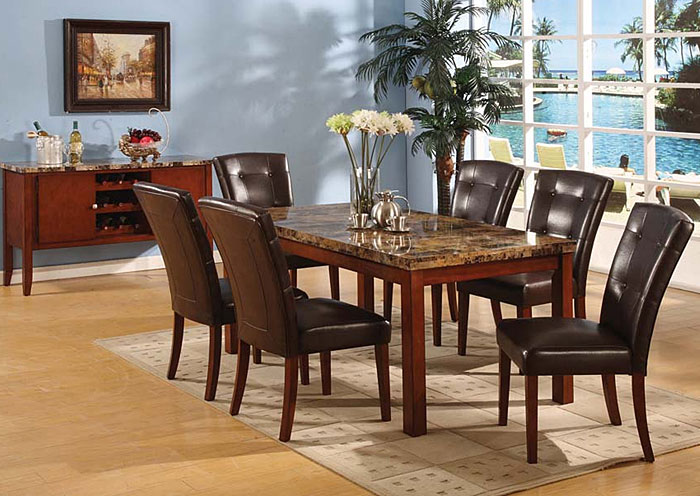 8812 Faux Marble Top Dining Table 4 Chairs Bob S Discount House