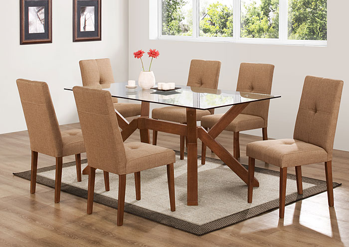 9937 Glass Top Dining Table 4 Chairs Bob S Discount House