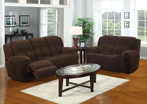 Image for Napa Chocolate Reclining Sofa, Loveseat & Chair