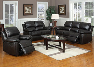 Image for Nassau Dark Brown Reclining Sofa