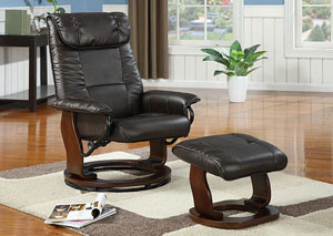 Image for TC 844 Swivel Recliner & Ottoman
