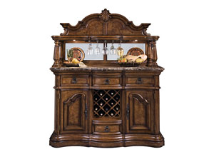 Image for San Mateo Brown Sideboard Hutch