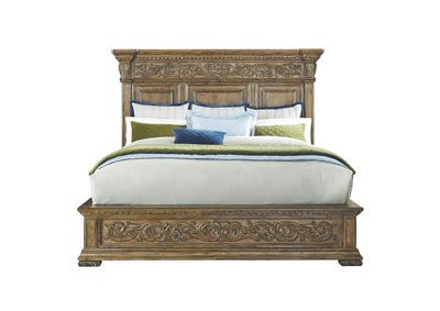Stratton Queen Carved Platform Bed