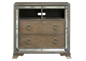 Image for Karissa Weathered Oak Media Chest