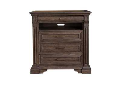 Image for Bedford Heights 4 Drawer Media Chest in Estate Brown