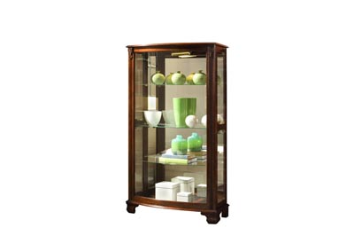PFC Curios Maple Brown Gallery Style 3 Shelf Curio Cabinet