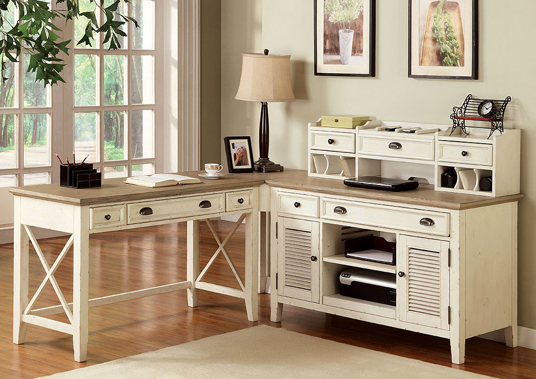 Coventry Two Tone Weathered Driftwood Dover White Corner Unit Penland S Furniture