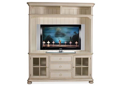 "Image for Placid Cove Honeysuckle White 72"" TV Console & Hutch"