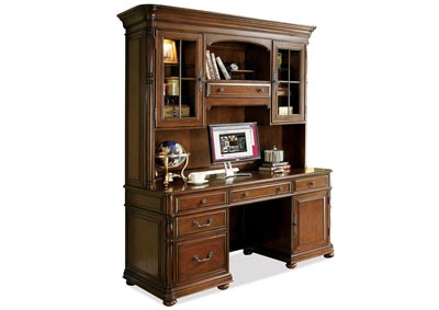 Image for Bristol Court Computer Credenza w/Hutch