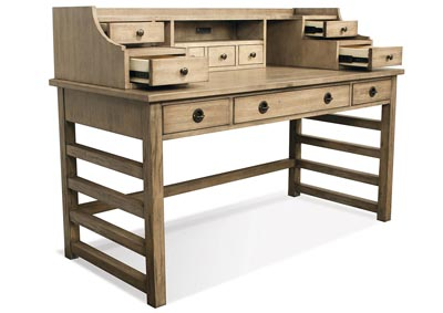 Image for Perspectives Beige Desk With Hutch