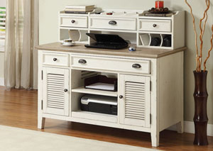 Image for Coventry Two Tone Weathered Driftwood/Dover White Credenza Desk