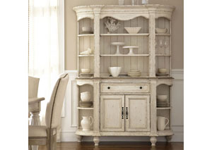 Image for Coventry Two Tone Dover White Server Hutch