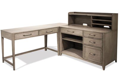 Image for Vogue Gray Wash L Desk With Storage