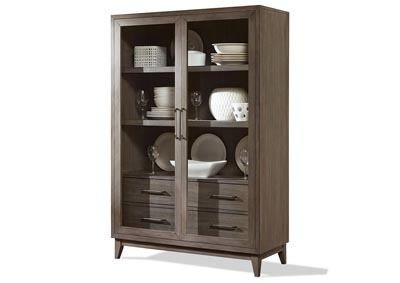 Image for Vogue Gray Wash Display Cabinet