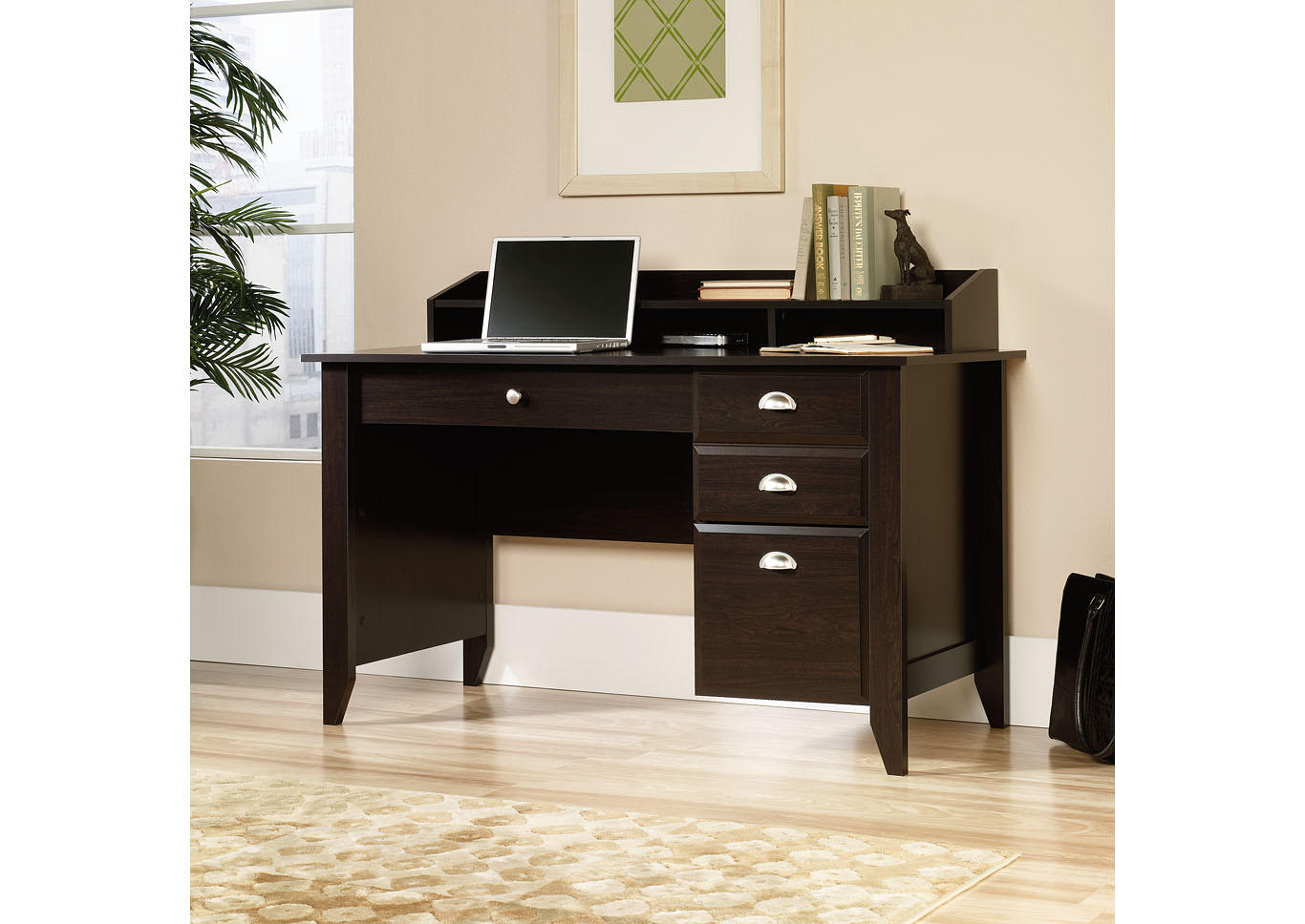 Shoal Creek Jamocha Wood Desk,Sauder