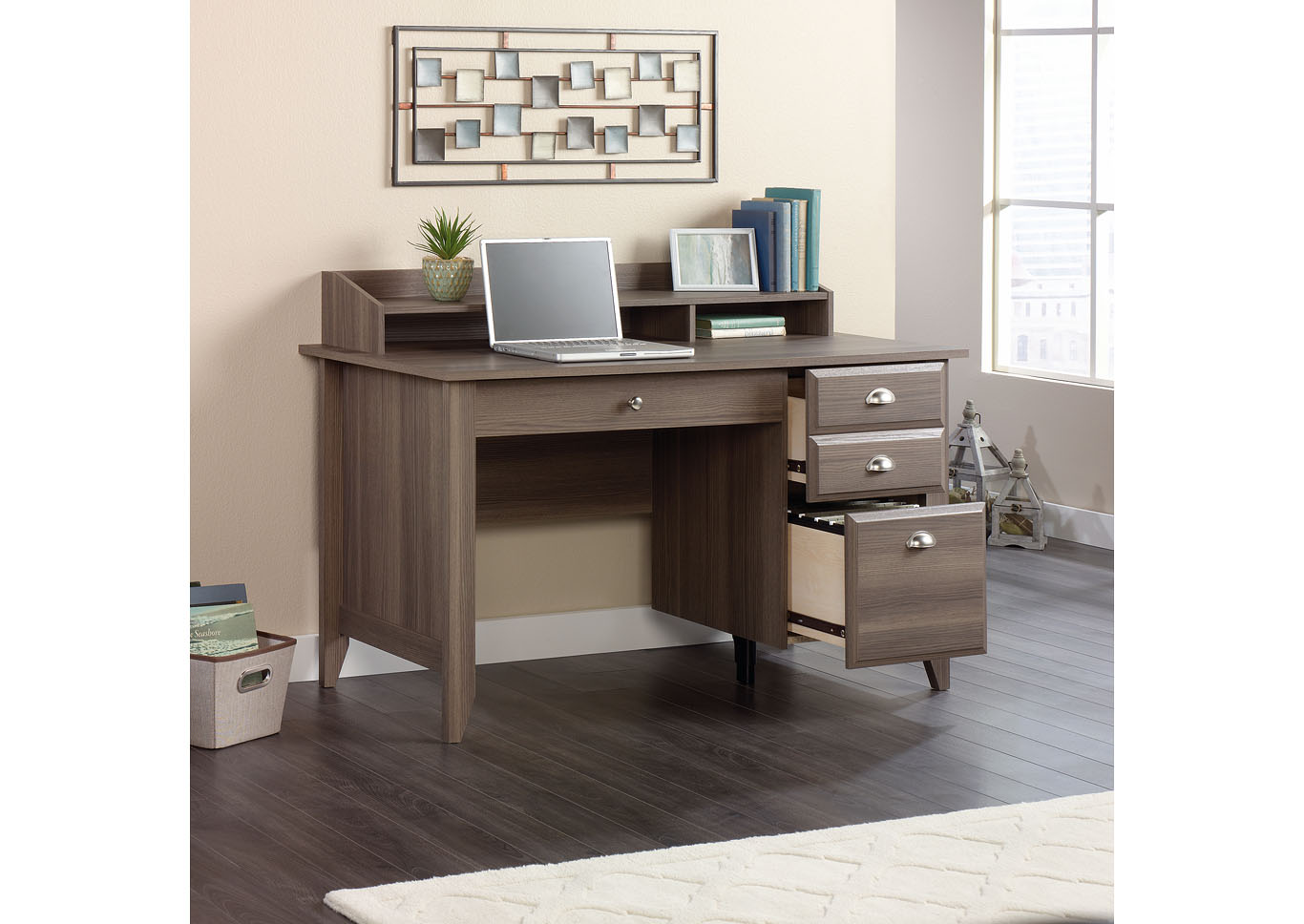 Shoal Creek Diamond Ash Desk,Sauder