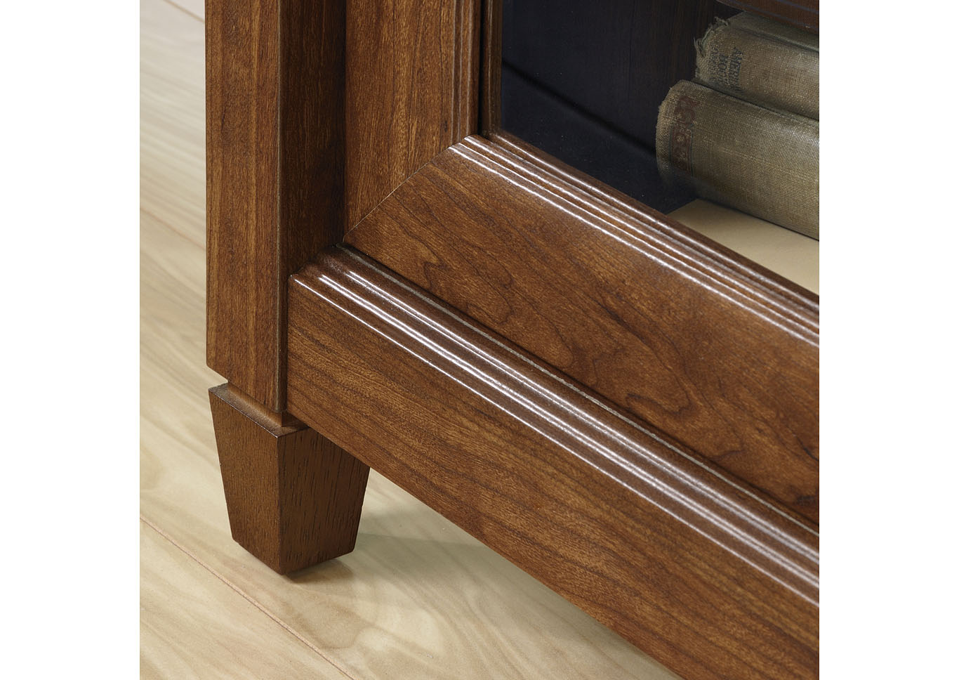 Edge Water Auburn Cherry Entertainment Credenza,Sauder