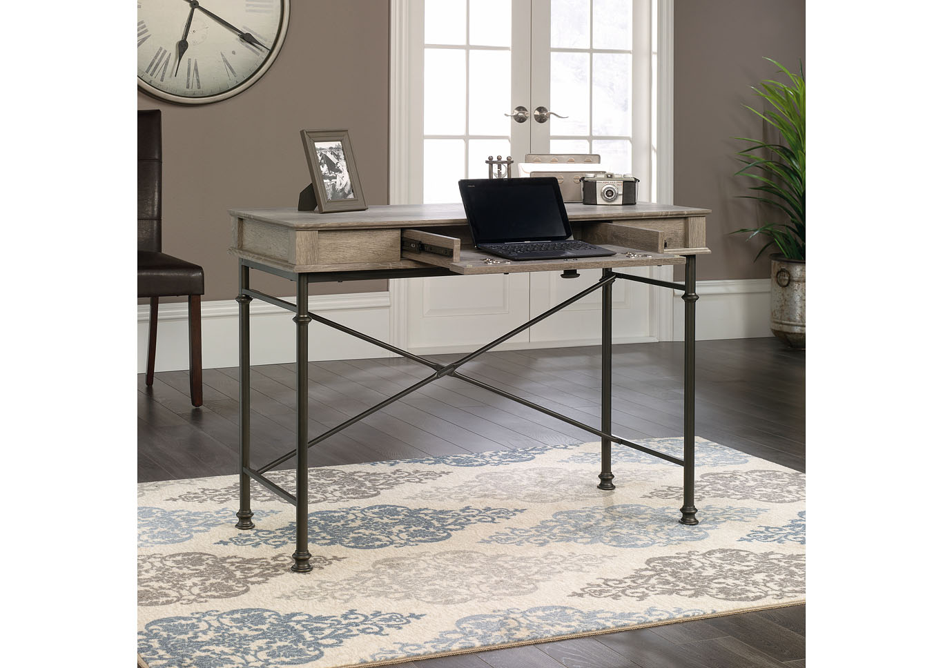 Canal Street Brown Console Desk,Sauder