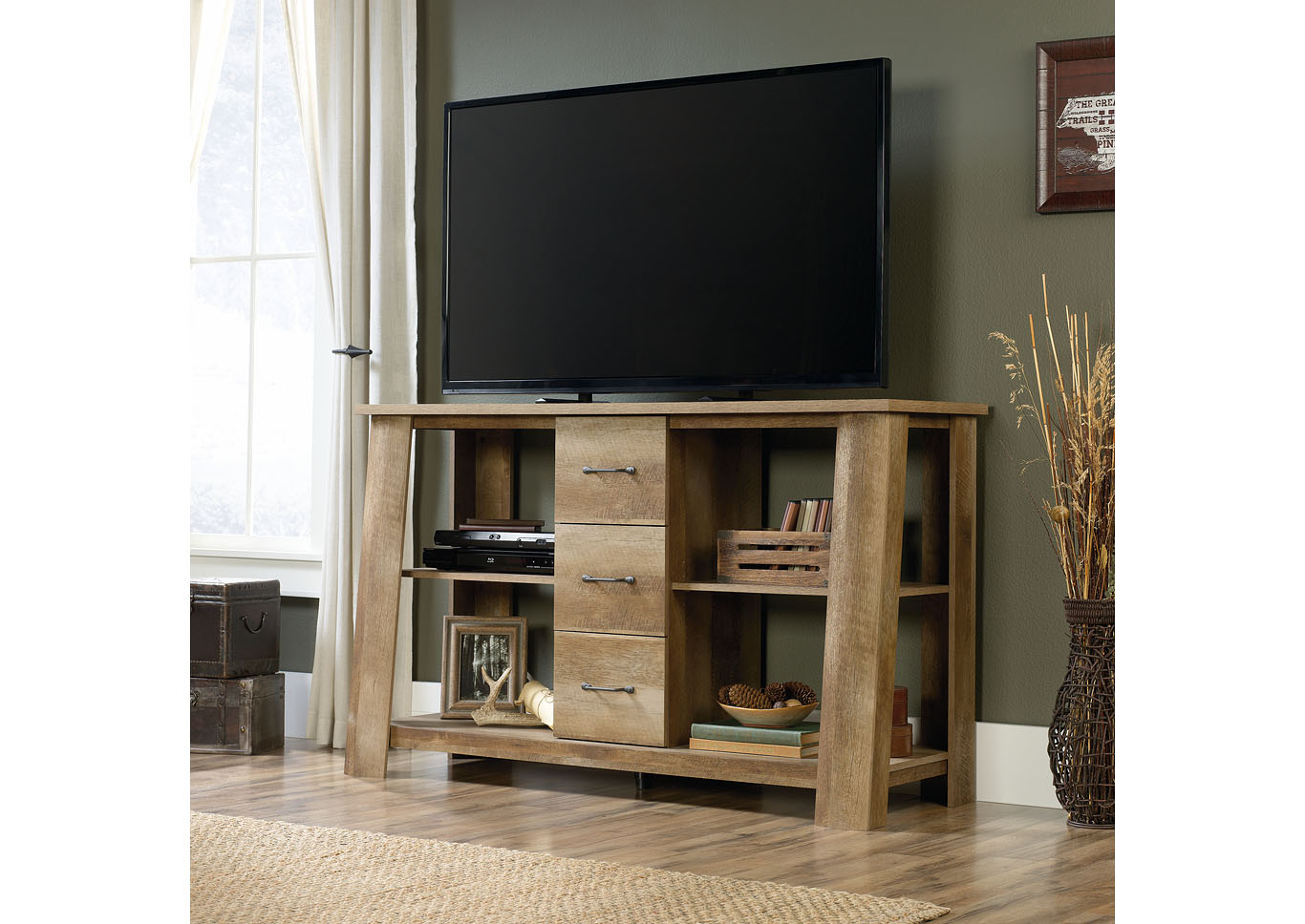 Boone Mountain Craftsman Oak Credenza,Sauder