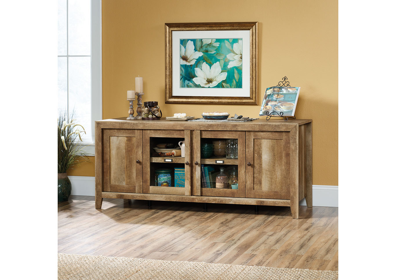 Dakota Pass Craftsman Oak Credenza,Sauder