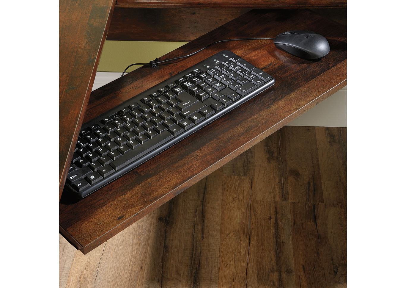 Harbor View Curado Cherry Corner Computer Desk,Sauder