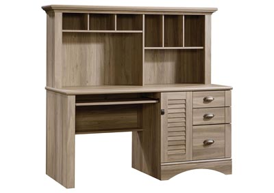 Image for Harbor View Salt Oak Computer Desk W/Hutch