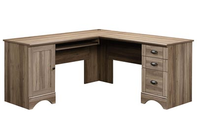 Image for Harbor View Salt Oak Corner Computer Desk