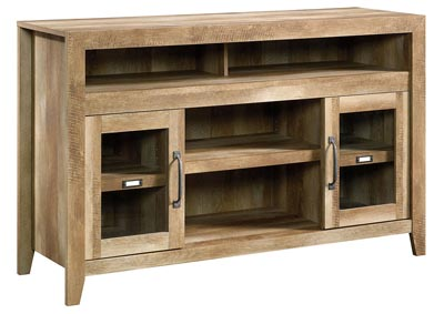 Dakota Pass Craftsman Oak Entertainment Credenza w/Fireplace