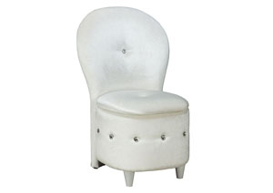 Image for Sit N' Store White Storage Stool