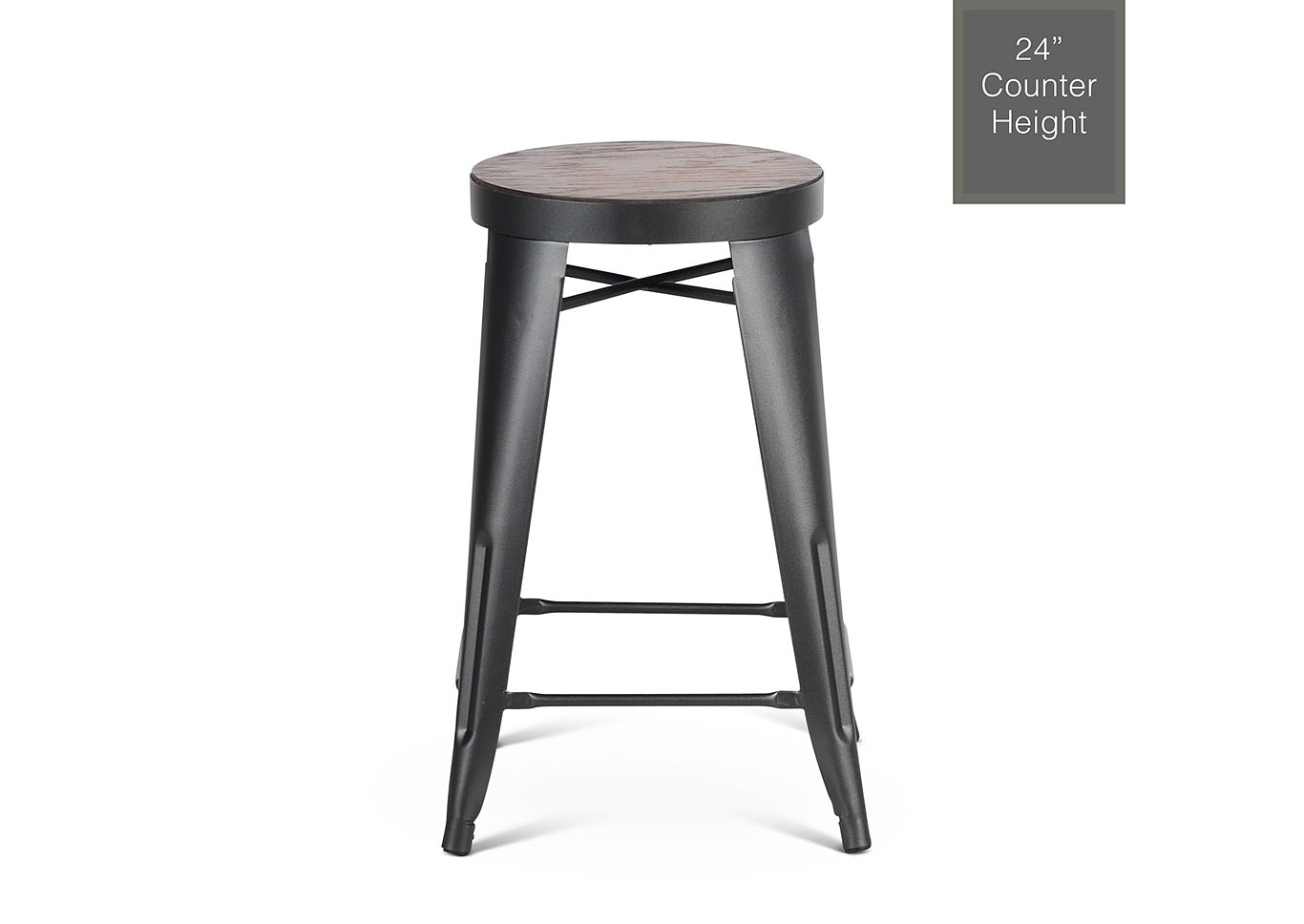 Park Avenueer Grey Counter Stool [2/ctn],Steve Silver