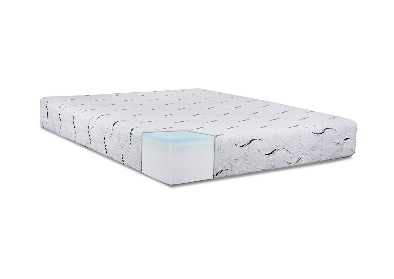 "Restore Grey 10"" Queen Mattress,Steve Silver"