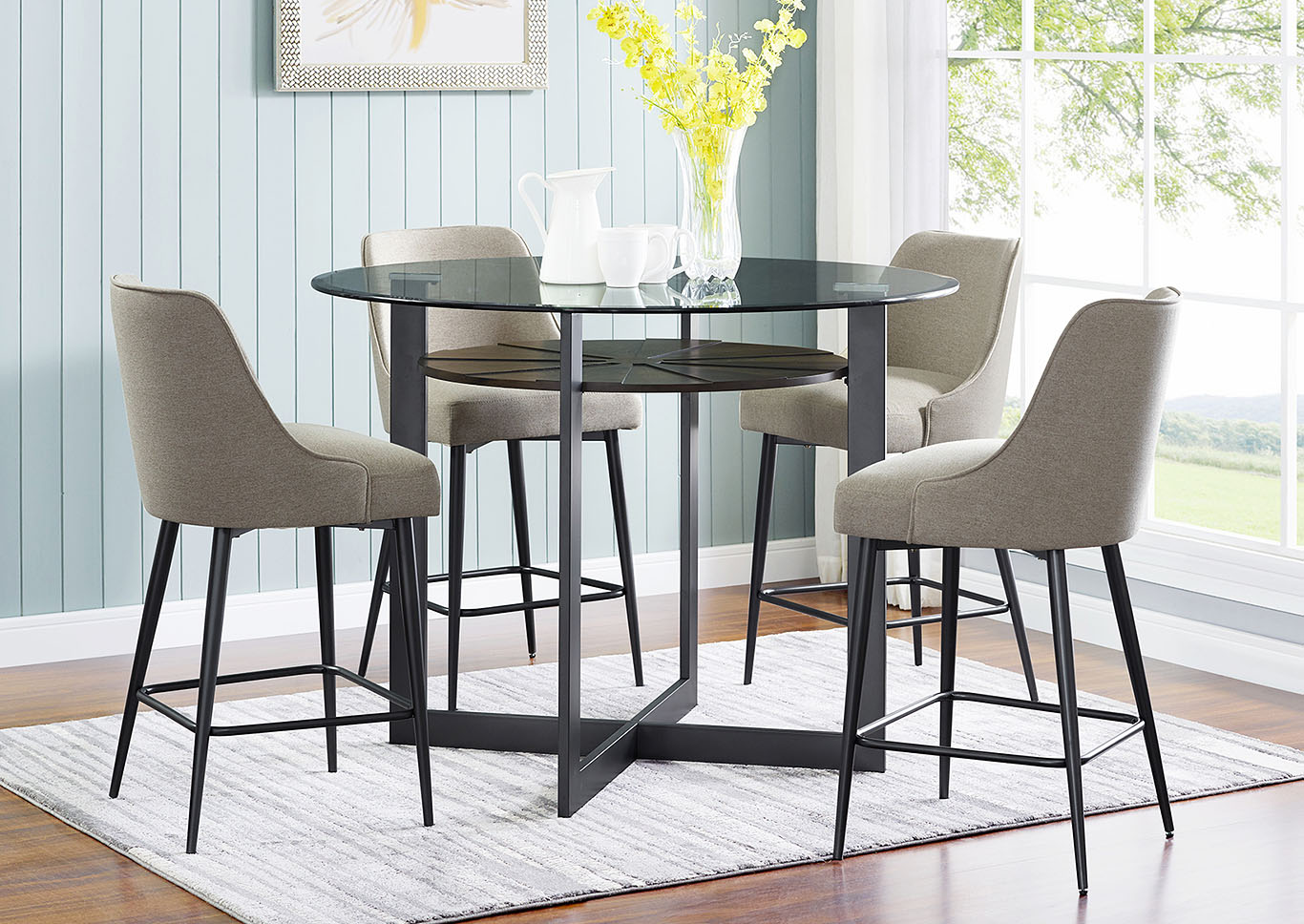 Get Glass Top Dining Table Sets PNG