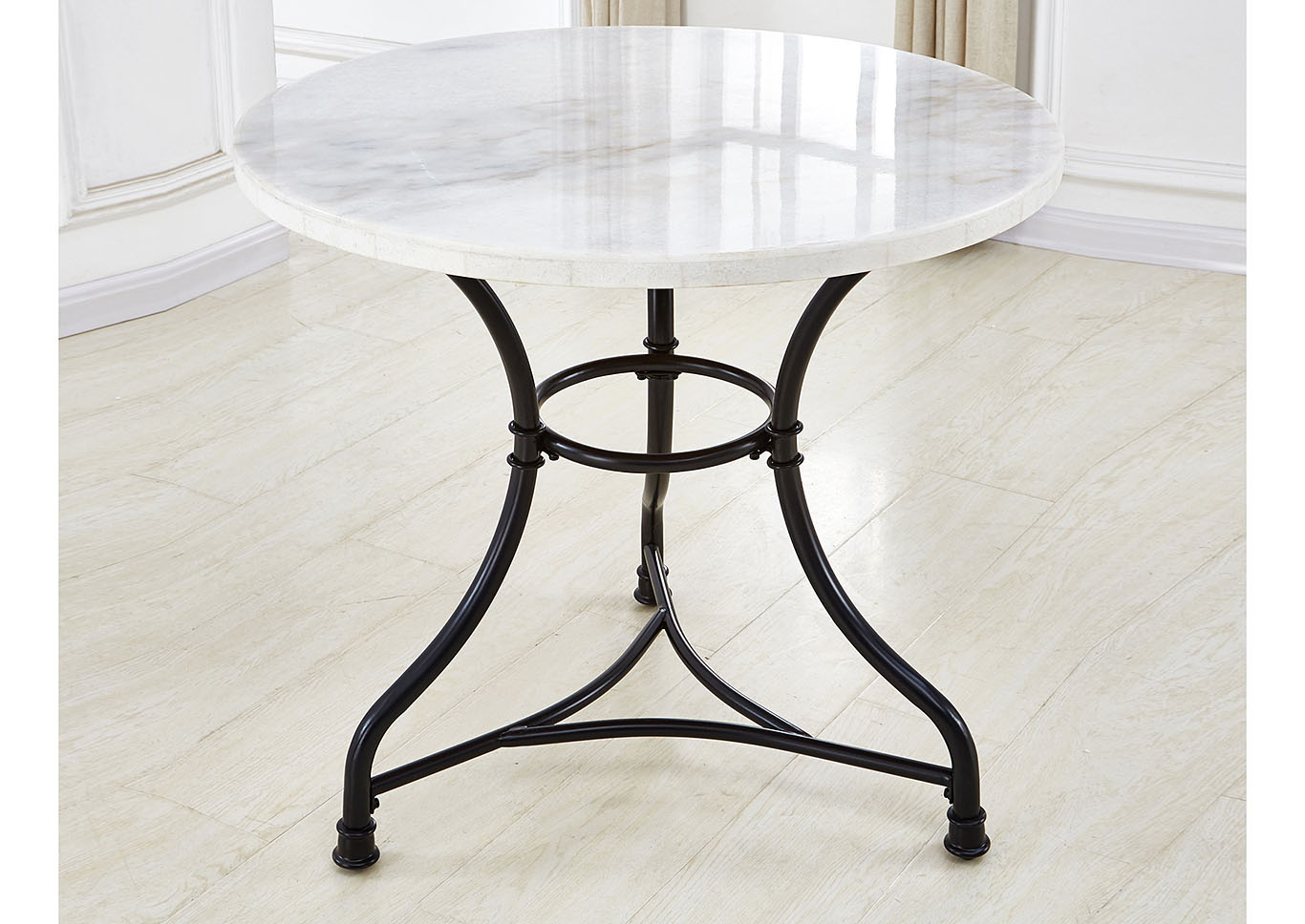 Claire White Marble Top Round Bistro Table Ivan Smith