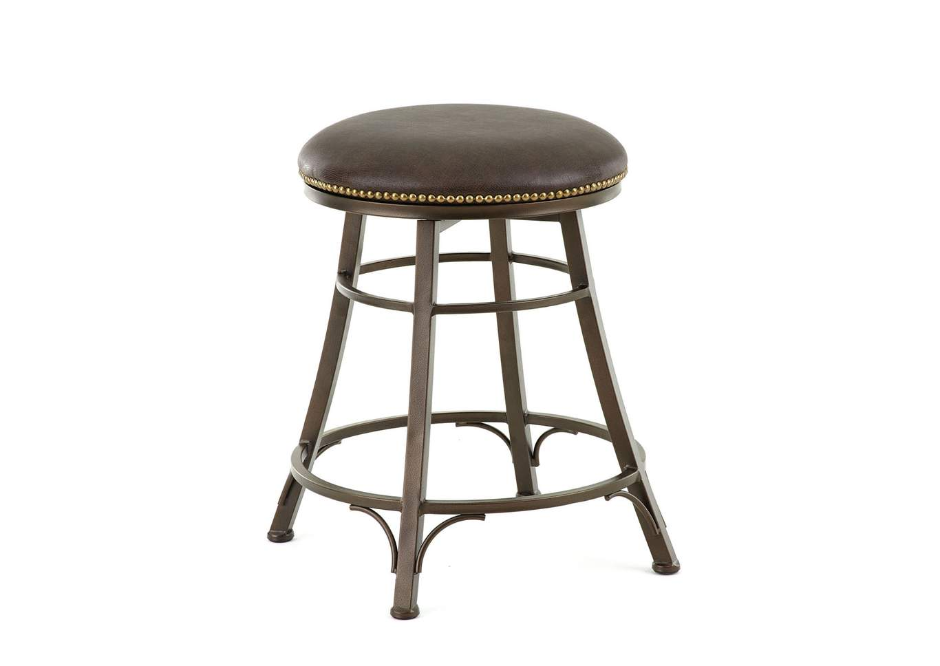 Bali Brown Swivel Counter Stools [Set of 2],Steve Silver