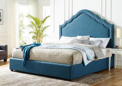 Image for Ensley Navy Upholstered King Bed