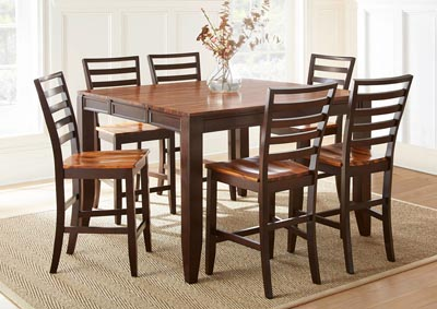 Image for Abaco Brown Rectangular Dining Set W/ 6 Chairs
