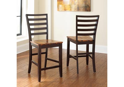 Image for Abaco Brown Counter Dining Chair [2/Ctn]