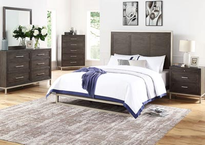 Image for Broomfield Brown Panel King Bed