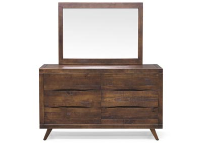 Pasco Brown Dresser & Mirror
